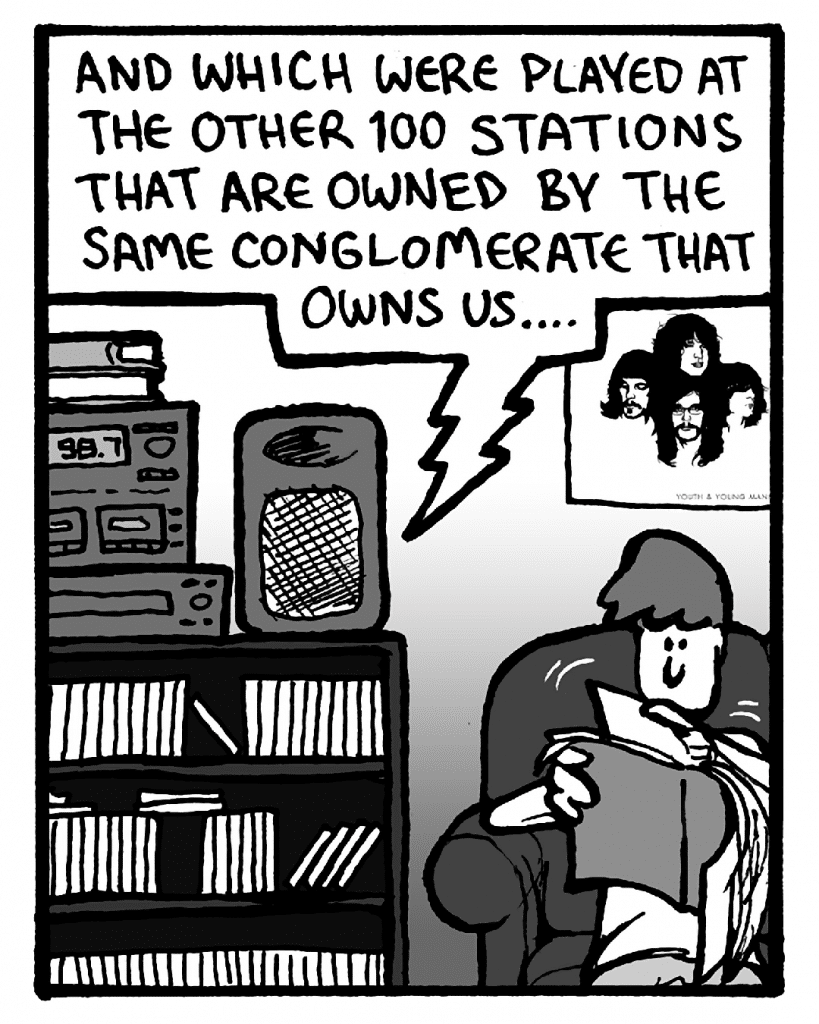 BARRY: And which were played at the other 100 stations that are owned by the same conglomerate that owns us....