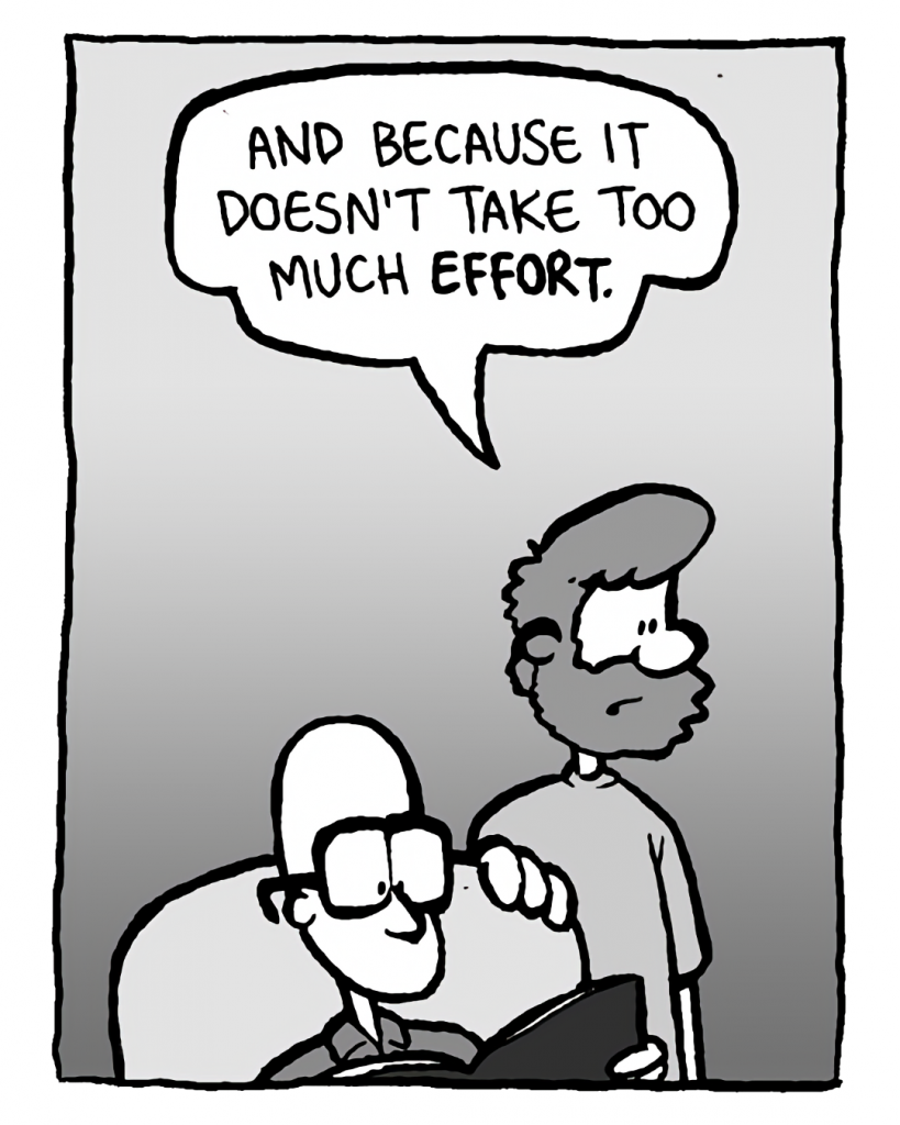 GREG: And because it doesn't take too much effort.