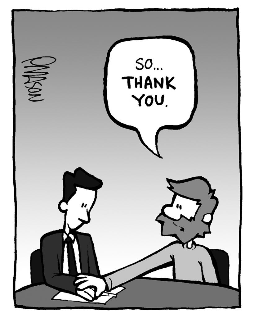 GREG: So... THANK YOU.